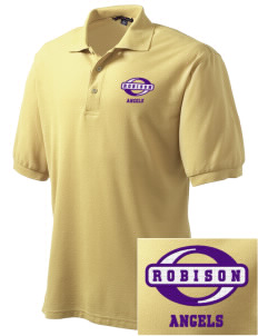 Robison Middle School Angels Embroidered Men's Silk Touch Polo