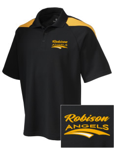 Robison Middle School Angels Embroidered Holloway Men's Frequency Performance Pique Polo