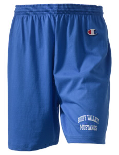"Ruby Valley Elementary School Mustangs  Champion Women's Gym Shorts, 6"" Inseam"