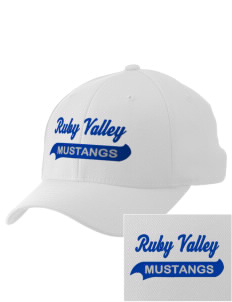 Ruby Valley Elementary School Mustangs Embroidered Pro Model Fitted Cap