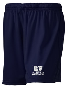 "Ruby Valley Elementary School Mustangs Embroidered Holloway Women's Performance Shorts, 5"" Inseam"