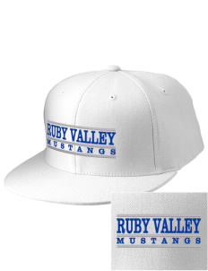 Ruby Valley Elementary School Mustangs Embroidered Diamond Series Fitted Cap