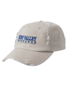 Ruby Valley Elementary School Mustangs Embroidered Distressed Cap