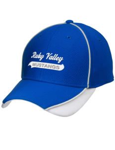 Ruby Valley Elementary School Mustangs Embroidered New Era Contrast Piped Performance Cap