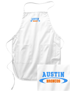 Austin High School Broncos Embroidered Full Length Apron