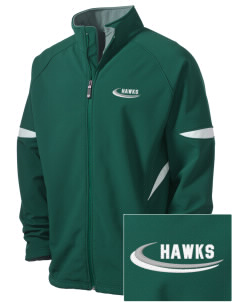 Hug High School Hawks Holloway Embroidered Men's Radius Zip Front Jacket