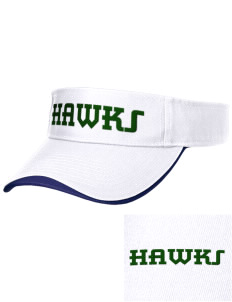 Hug High School Hawks Embroidered Binding Visor