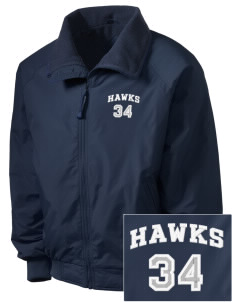 Hug High School Hawks Embroidered Men's Fleece-Lined Jacket