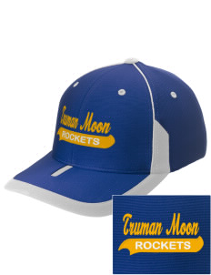 Truman Moon Elementary School Rockets Embroidered M2 Universal Fitted Contrast Cap
