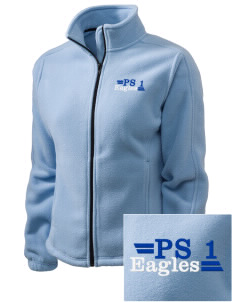 PS 1 Tottenville Eagles Embroidered Women's Fleece Full-Zip Jacket