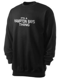 Hampton Bays Secondary School Baymen Men's 7.8 oz Lightweight Crewneck Sweatshirt