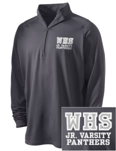 Wallkill High School Panthers Embroidered Men's Stretched Half Zip Pullover