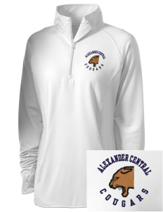Alexander Central High School Cougars Embroidered Ladies Stretched Half-Zip Pullover