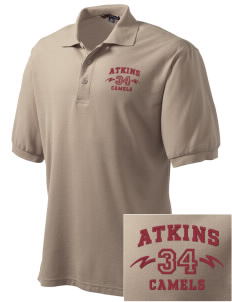Atkins Middle School Camels Embroidered Tall Men's Silk Touch Polo