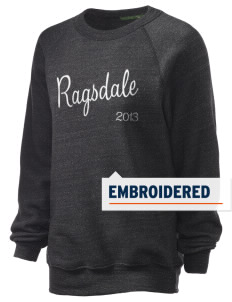 Ragsdale High School Tigers Embroidered Unisex Alternative Eco-Fleece Raglan Sweatshirt