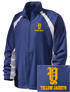 Matthews Elementary School Yellow Jackets  Embroidered Men's Full Zip Warm Up Jacket