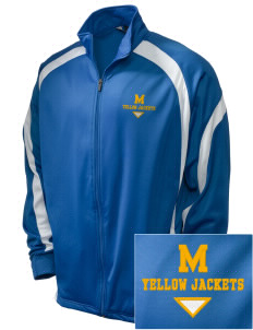 Matthews Elementary School Yellow Jackets Embroidered Holloway Men's Tricotex Warm Up Jacket