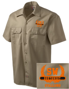 Southwest High School Stallions Embroidered Dickies Men's Short-Sleeve Workshirt