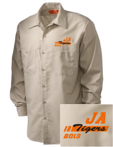 Jefferson Avenue Elementary School Tigers Embroidered Men's Industrial Work Shirt - Regular