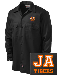 Jefferson Avenue Elementary School Tigers Embroidered Dickies Men's Long-Sleeve Workshirt