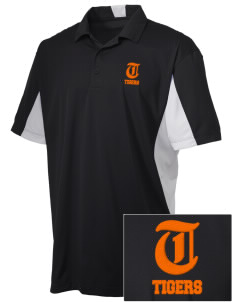 Jefferson Avenue Elementary School Tigers Embroidered Men's Side Blocked Micro Pique Polo
