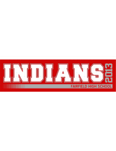 "Fairfield High School Indians Bumper Sticker 11"" x 3"""