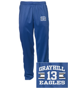 Grayhill Elementary School Eagles Embroidered Men's Tricot Track Pants