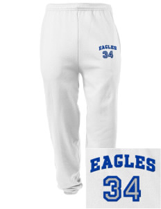 Grayhill Elementary School Eagles Embroidered Men's Sweatpants with Pockets