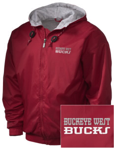 Buckeye West Elementary School Bucks Embroidered Holloway Men's Hooded Jacket