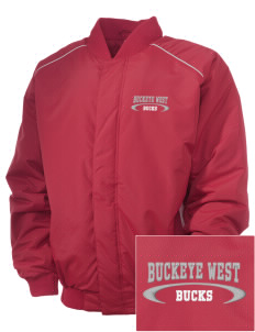 Buckeye West Elementary School Bucks Embroidered Russell Men's Baseball Jacket