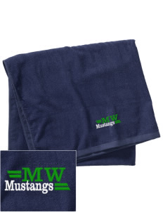 Mount Washington Elementary School Mustangs Embroidered Beach Towel