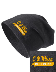 C O Wilson Middle School Bullpups Embroidered Slouch Beanie