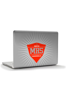 "Mentor High School Cardinals Apple MacBook Pro 15.4"" Skin"