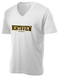 Northview High School Wildcats Alternative Men's 3.7 oz Basic V-Neck T-Shirt