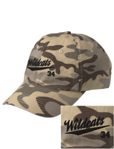 Northview High School Wildcats Embroidered Camouflage Cotton Cap