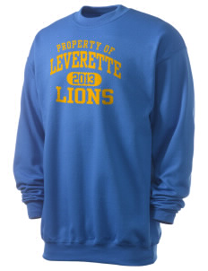 Leverette Junior High School Lions Men's 7.8 oz Lightweight Crewneck Sweatshirt