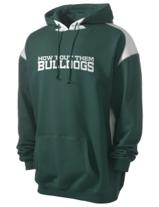 McKinley Elementary School Bulldogs Men's Pullover Hooded Sweatshirt with Contrast Color