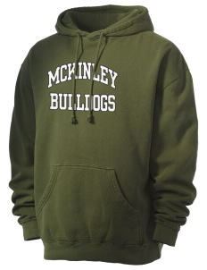McKinley Elementary School Bulldogs Men's 80/20 Pigment Dyed Hooded Sweatshirt