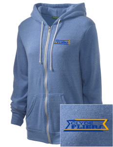 Clyde High School Fliers Embroidered Alternative Unisex The Rocky Eco-Fleece Hooded Sweatshirt