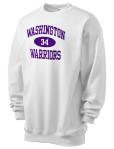 Washington School Warriors Men's 7.8 oz Lightweight Crewneck Sweatshirt