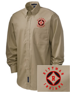 Rittman High School Indians Embroidered Men's Easy-Care Shirt