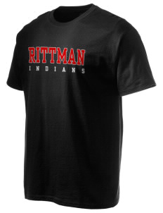 Rittman High School Indians Hanes Men's 6 oz Tagless T-shirt