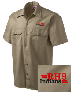 Rittman High School Indians Embroidered Dickies Men's Short-Sleeve Workshirt