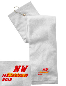 Northwest 6th Grade Center Wildcats Embroidered Hand Towel with Grommet