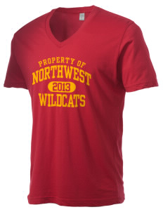 Northwest 6th Grade Center Wildcats Alternative Men's 3.7 oz Basic V-Neck T-Shirt