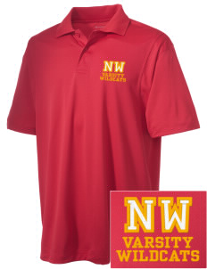Northwest 6th Grade Center Wildcats Embroidered Men's Micro Pique Polo