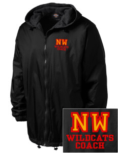 Northwest 6th Grade Center Wildcats Embroidered Dickies Men's Fleece-Lined Hooded Jacket