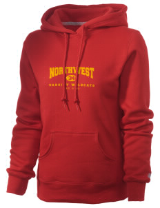 Northwest 6th Grade Center Wildcats Russell Women's Pro Cotton Fleece Hooded Sweatshirt