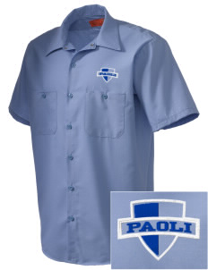 Paoli High School Pugs Embroidered Men's Cornerstone Industrial Short Sleeve Work Shirt