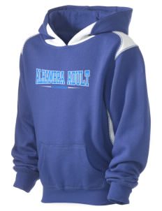 Alhambra Adult School Alhambra Kid's Pullover Hooded Sweatshirt with Contrast Color